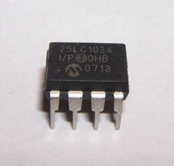 MICROCHIP - 25LC1024-I/P - EEPROM SERIAL 1024KB, PDIP8